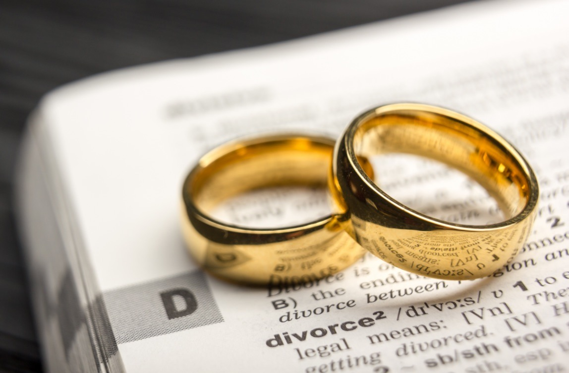 Wedding_Rings_on_top_of_divorce_definition_in_dictionary